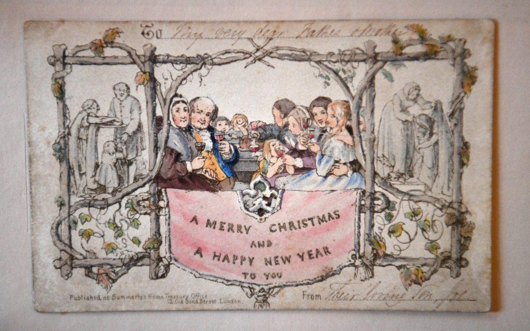 La primera tarjeta de Navidad